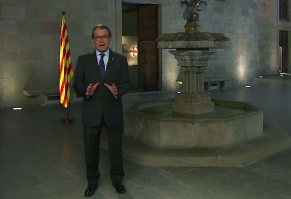 .Artur Mas ofreció anoche su discurso oficial de la Diada, que coincide con el inicio de la campaña.