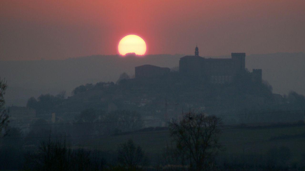 Castillo de San Vicente, Monforte. Puesta de sol.