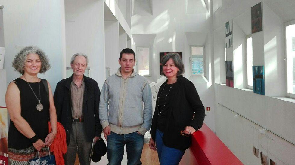 Criadores de Gallinas Araucanas en Xermade.De izquierda a derecha: María Sintes, Carlos Corral, Ignacio Fernández del Páramo y Sonia Puente Landázuri