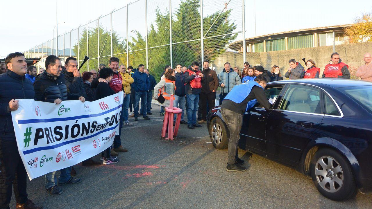 Alto seguimiento de la huelga en la prisión de A Lama