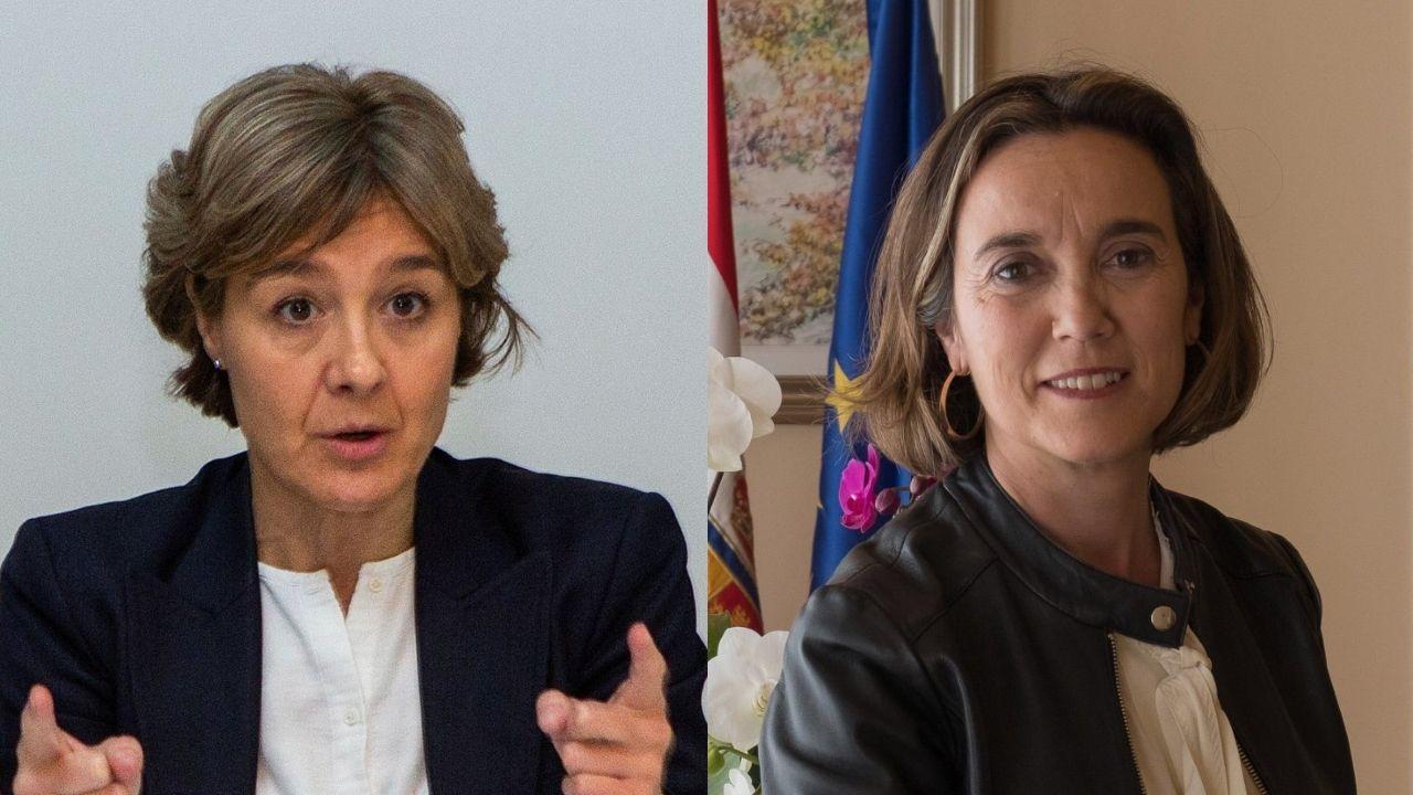 La oficialidá, una lucha intergeneracional.Isabel García Tejerina y Cuca Gamarra en sendas imágenes de archivo