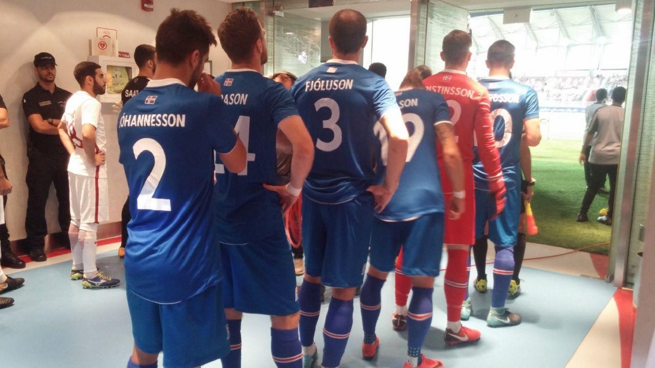 Diegui Johannesson Islandia Real Oviedo Horizontal.Diegui, antes de saltar al terreno de juego