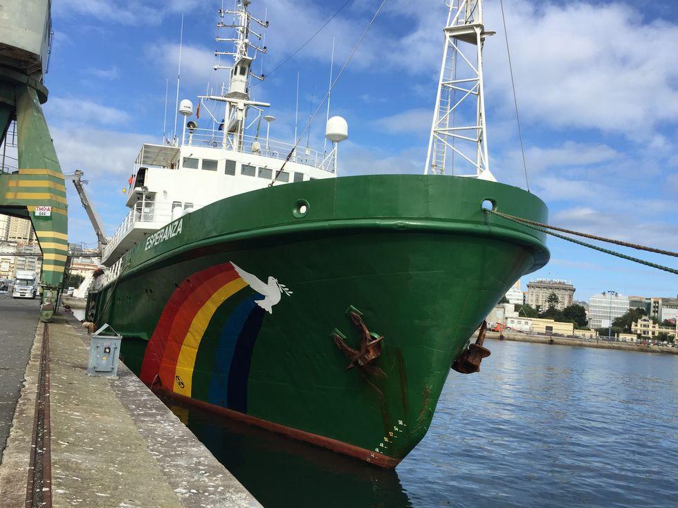 El barco «Esperanza» de Greenpeace.