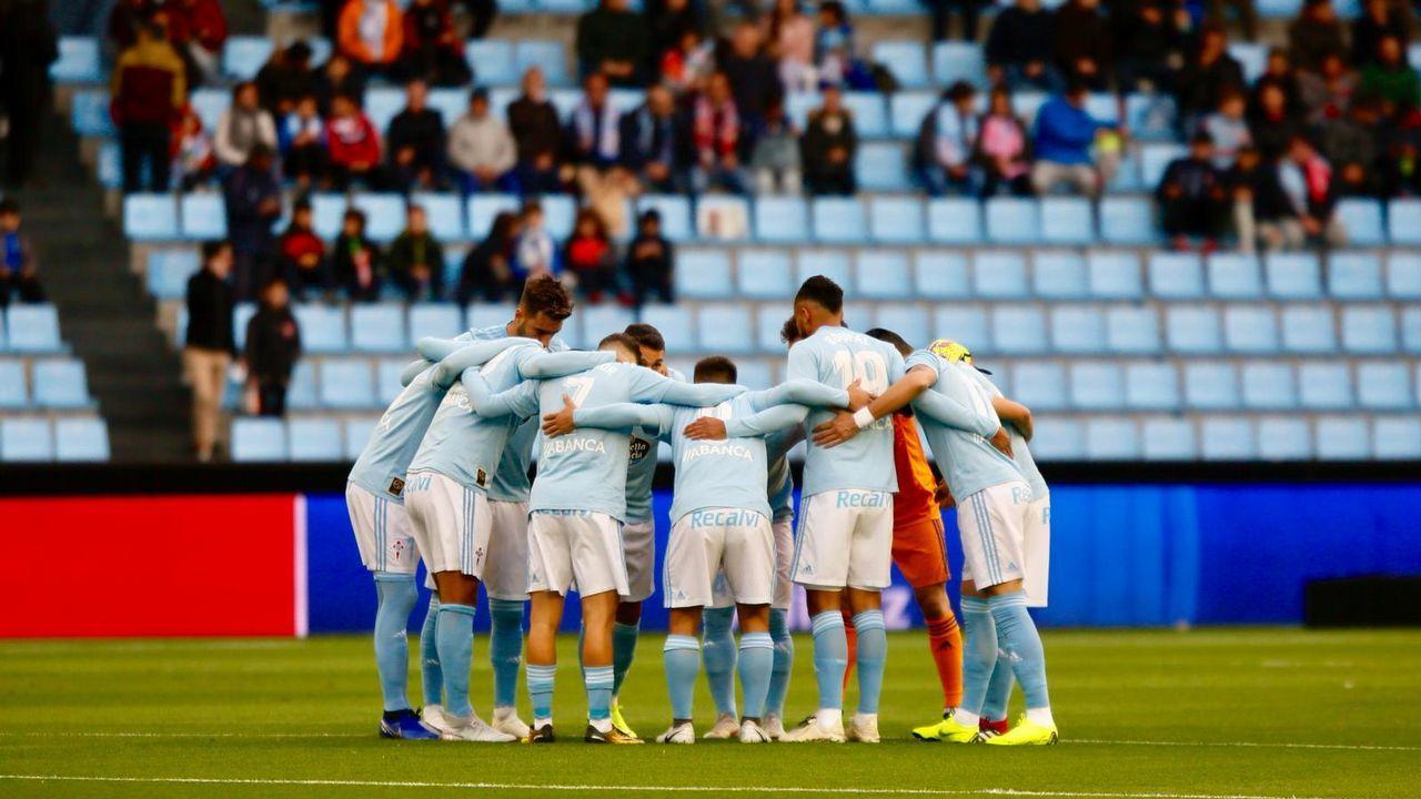 El 2018 del Celta, en imágenes.Aficionados del Celta, en un partido en Valladolid