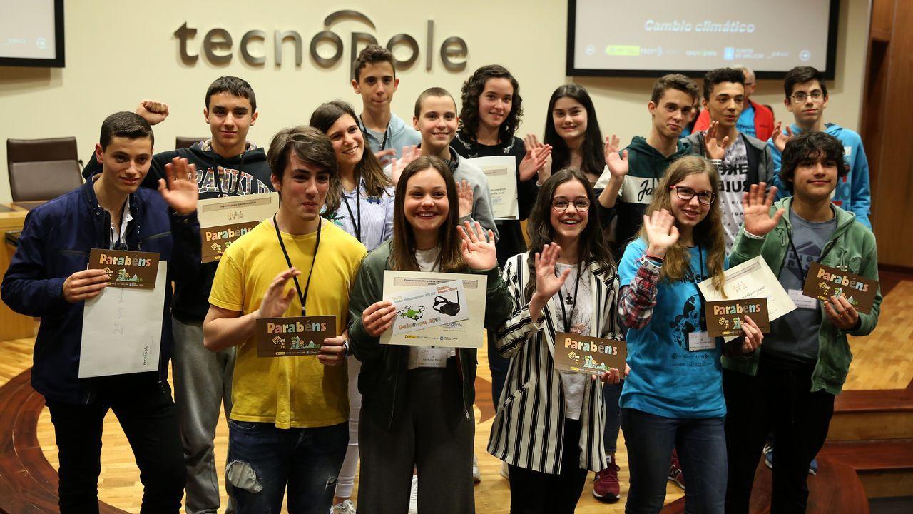 El grupo de ganadores