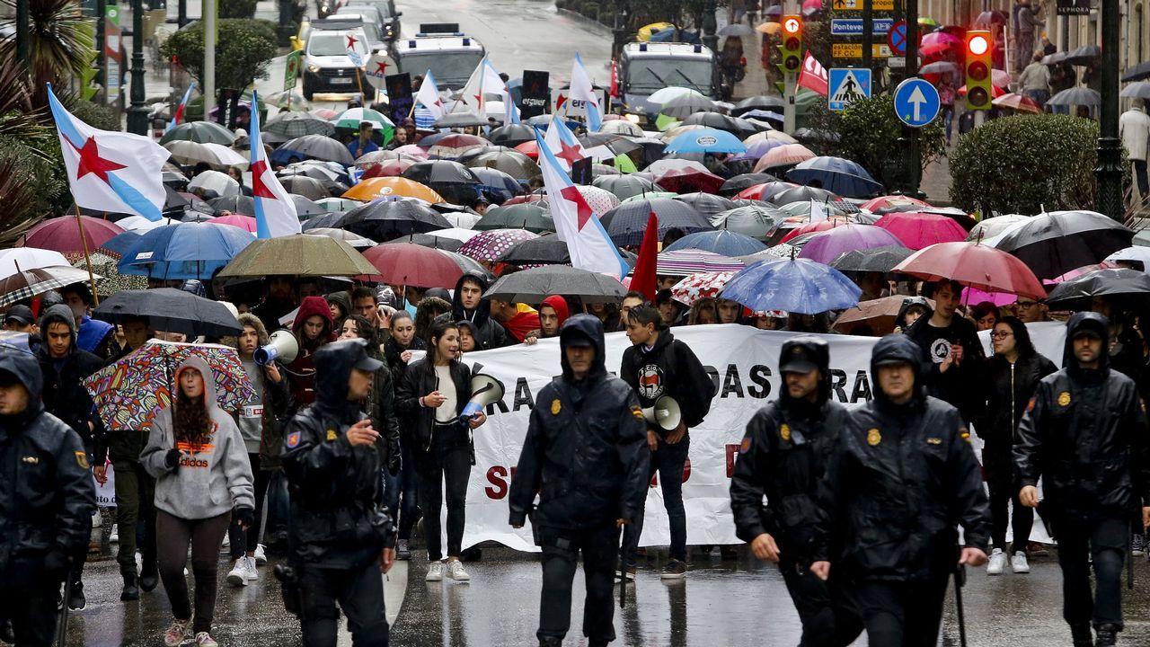 El caso del supuesto enchufe de la cuñada de Carmela Silva llega a los juzgados.Manifestación de la Lomce en Vigo en una imagen de archivo