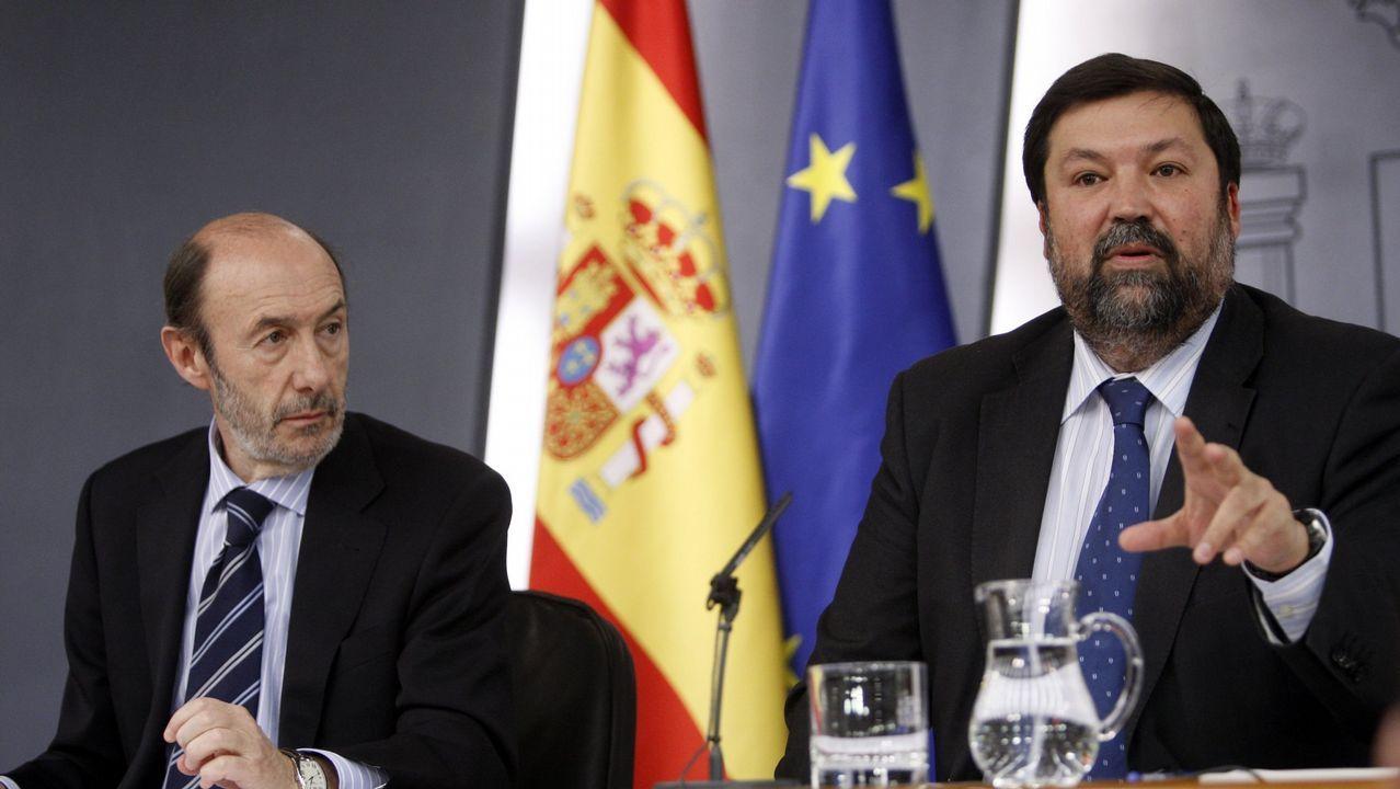 En el 2011 junto al ministro de Justicia, el gallego Francisco Caamaño
