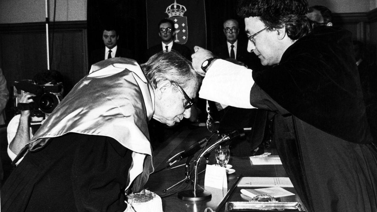 Vargas Llosa, en la presentación en Madrid de su última novela, «Cinco esquinas», el 1 de marzo