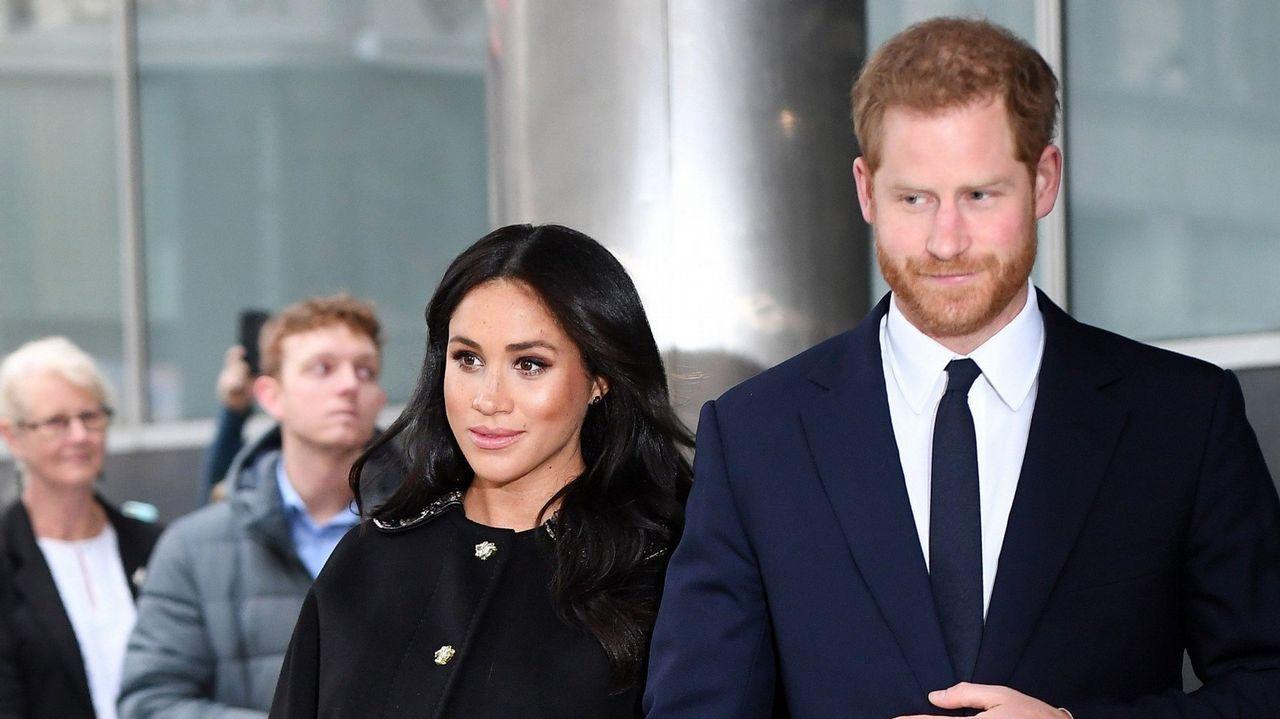 La familia real inglesa, en la misa de Pascua.La reina y sus hijas, en una imagen de archivo