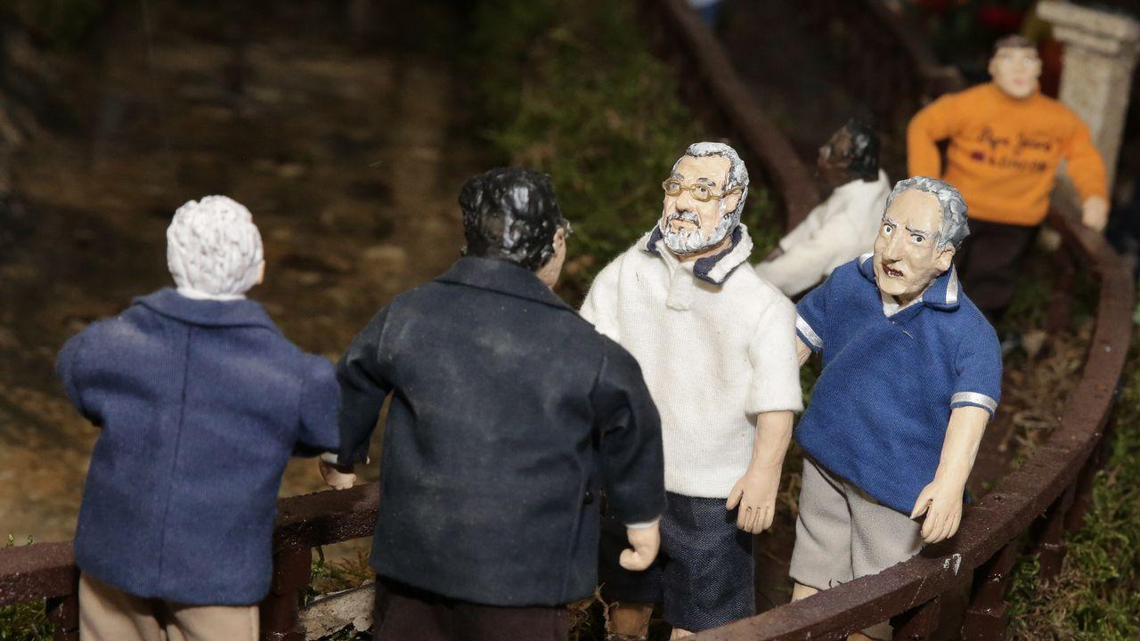 Rajoy y José Benito no dejan de caminar