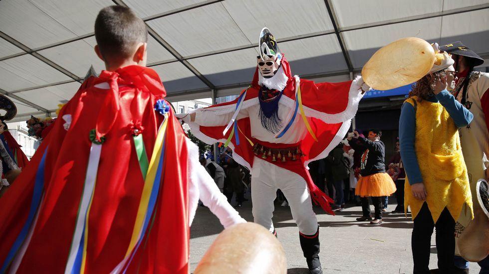 Desfile escolar de entroido en Verín.Los alumnos del Tomás de Lemos de Ribadavia salieron de desfile