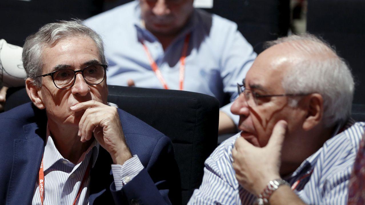 El euirodipuitado Ramón Jauregui y el expresidente del Principado de Asturias Vicente Alvarez Areces