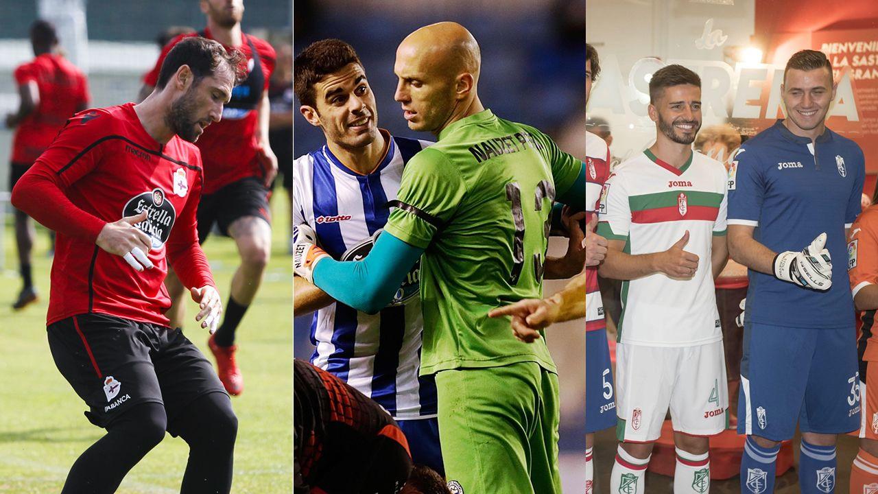 La carrera de Trashorras en imágenes.Deportivo, Las Palmas y Málaga modifican su portería