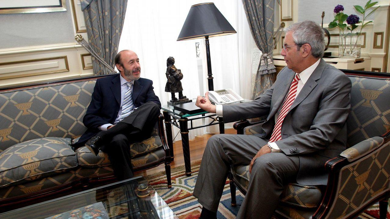 Reunión con el entonces presidente de la Xunta, Emilio Pérez Touriño, en el 2006
