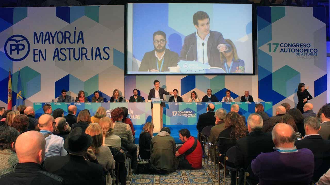Pablo Casado en la clausura del congreso autonómico del PP de Asturias