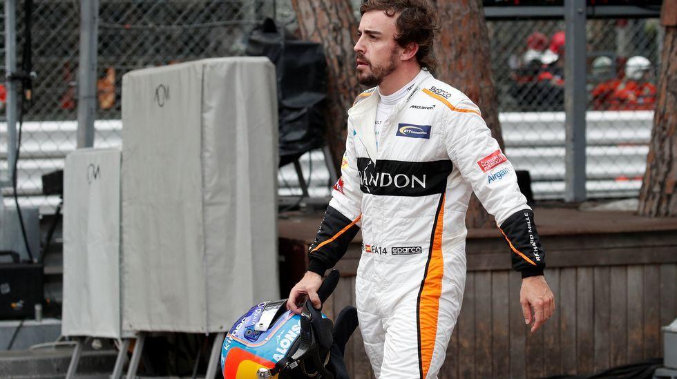 .Fernando Alonso, después de retirarse en Mónaco