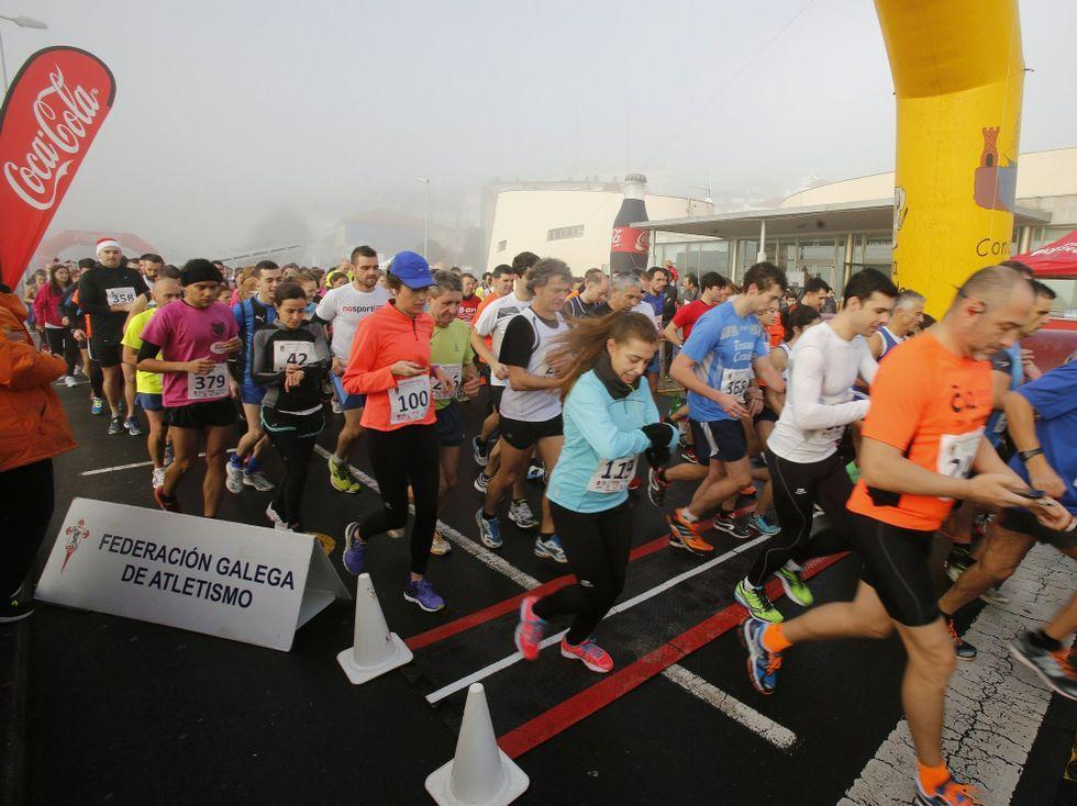 Noa, la perrita «deshauciada».El Club de Atletismo de Sada tiene casi 900 miembros.
