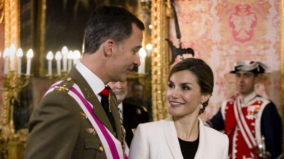 .El rey y su mujer el día de Reyes
