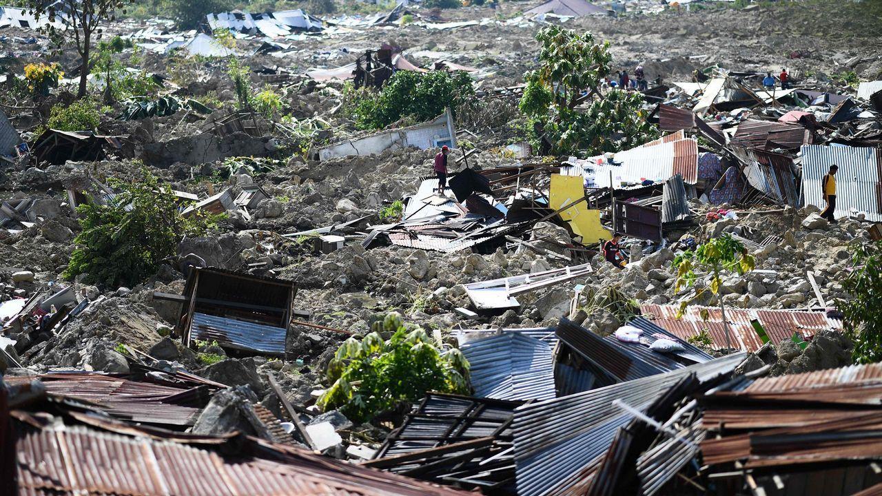 Ocas se vuelca con Palu.Efectos del último terremoto en Indonesia