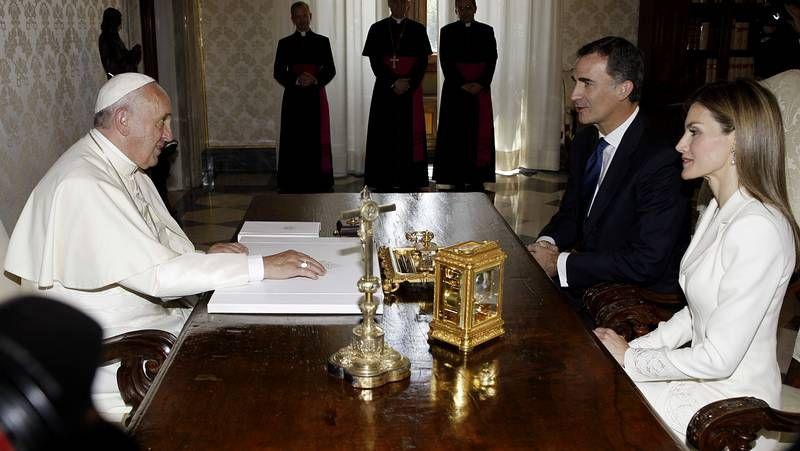 Un encuentro de 40 minutos con el pontífice.Lastres