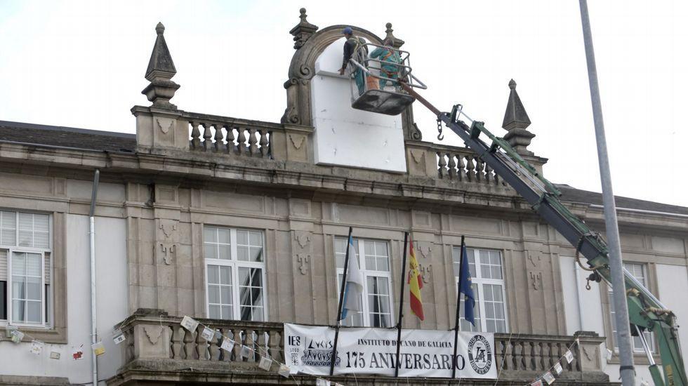 Lara Mendez alcaldesa de Lugo acude a los juzgado número uno de Lugo para declarar por un supuesto delito de malversación