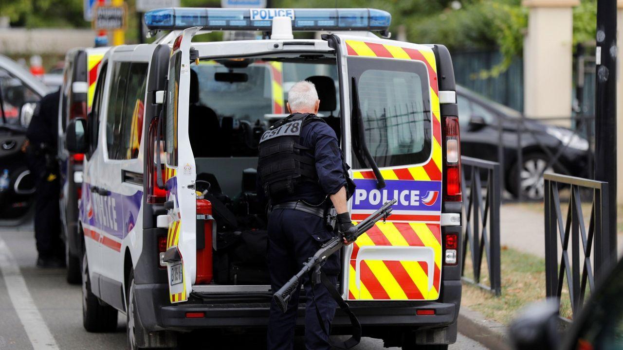 .Imagen de un agente de la Policía francesa