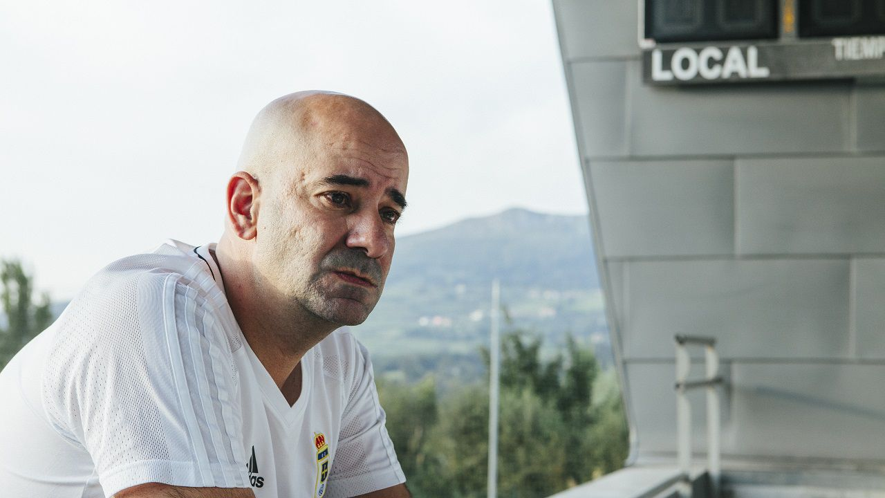 .Pedro Arboleya durante la entrevista