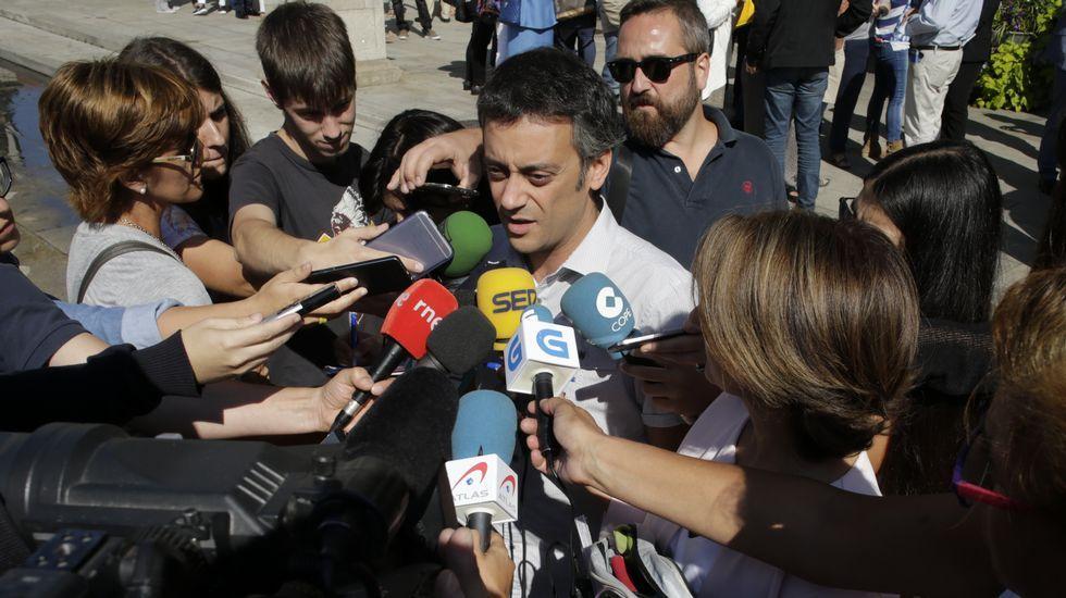 Xulio Ferreiro, en la concentración de A Coruña