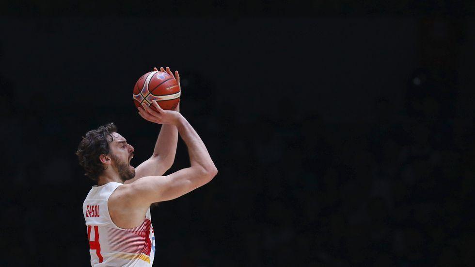 España-Lituania, en imágenes
