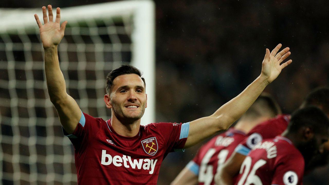 Lucas Pérez, este martes tras marcar dos goles con el West Ham