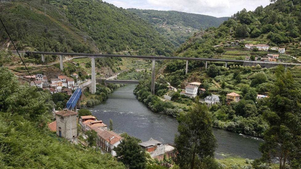 En Millarouso, la circunvalación girará a la derecha para cruzar el Sil en un viaducto