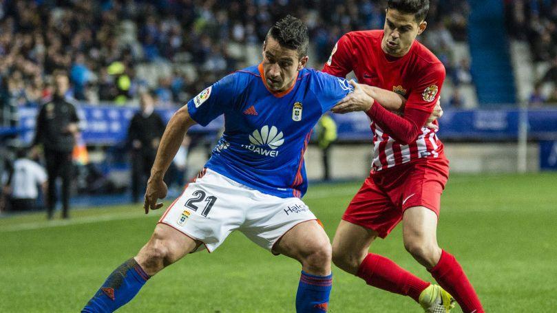 Anquela Carlos Tartiere Real Oviedo Cultural.Alineación del Oviedo ante el Almería