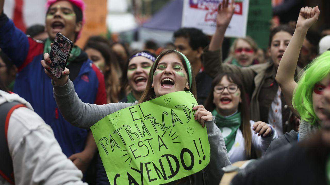 Las reacciones tras el «no» del Senado al aborto legal en Argentina.Manifestación por la legalización del aborto