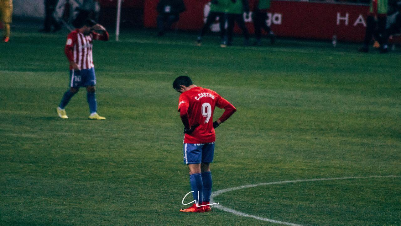 Carlos Castro durante el partido ante el Cádiz