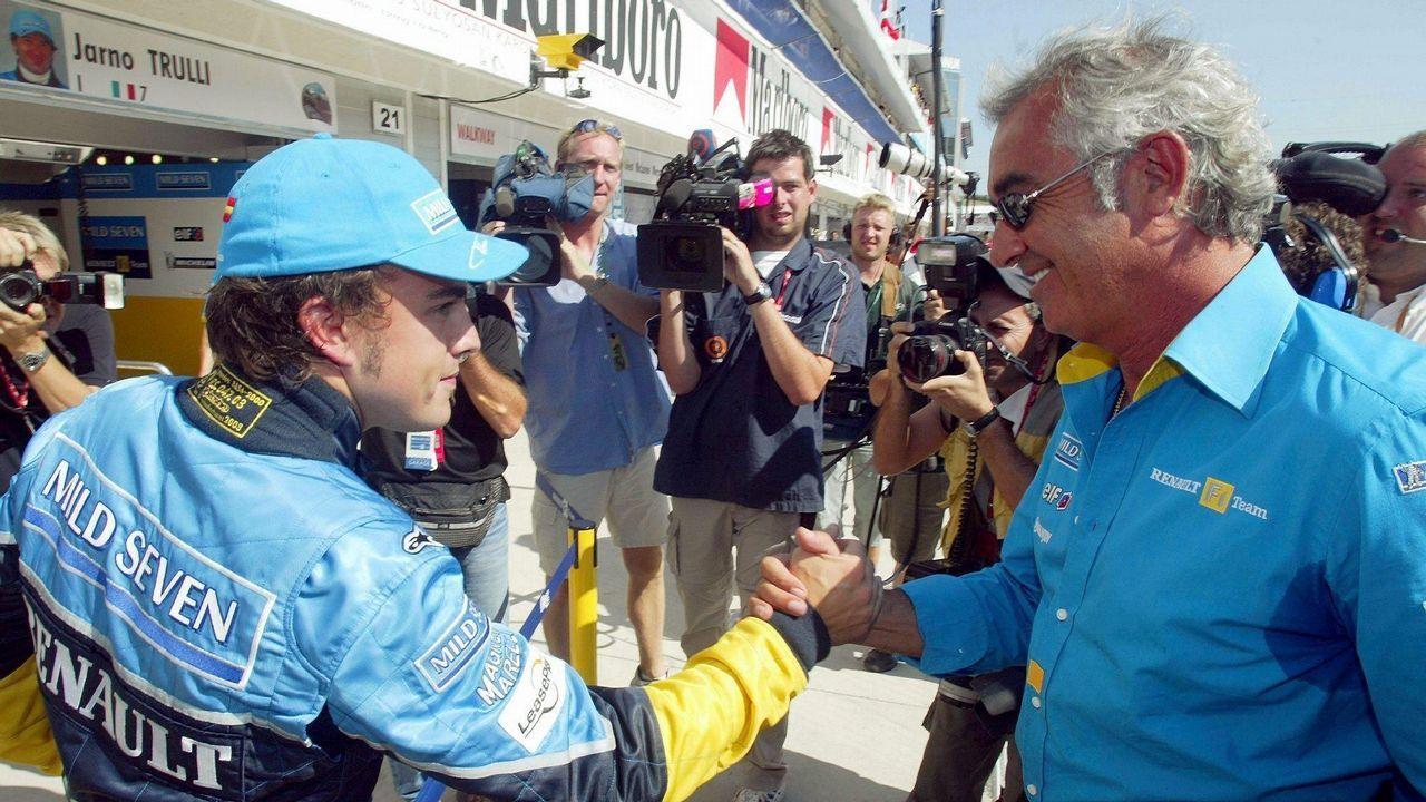 .Alonso tras lograr la ole en Hungría en 2003