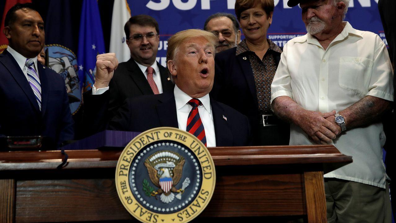 Donald Trump, acusado de evasión de impuestos con la herencia de su padre.Donald Trump