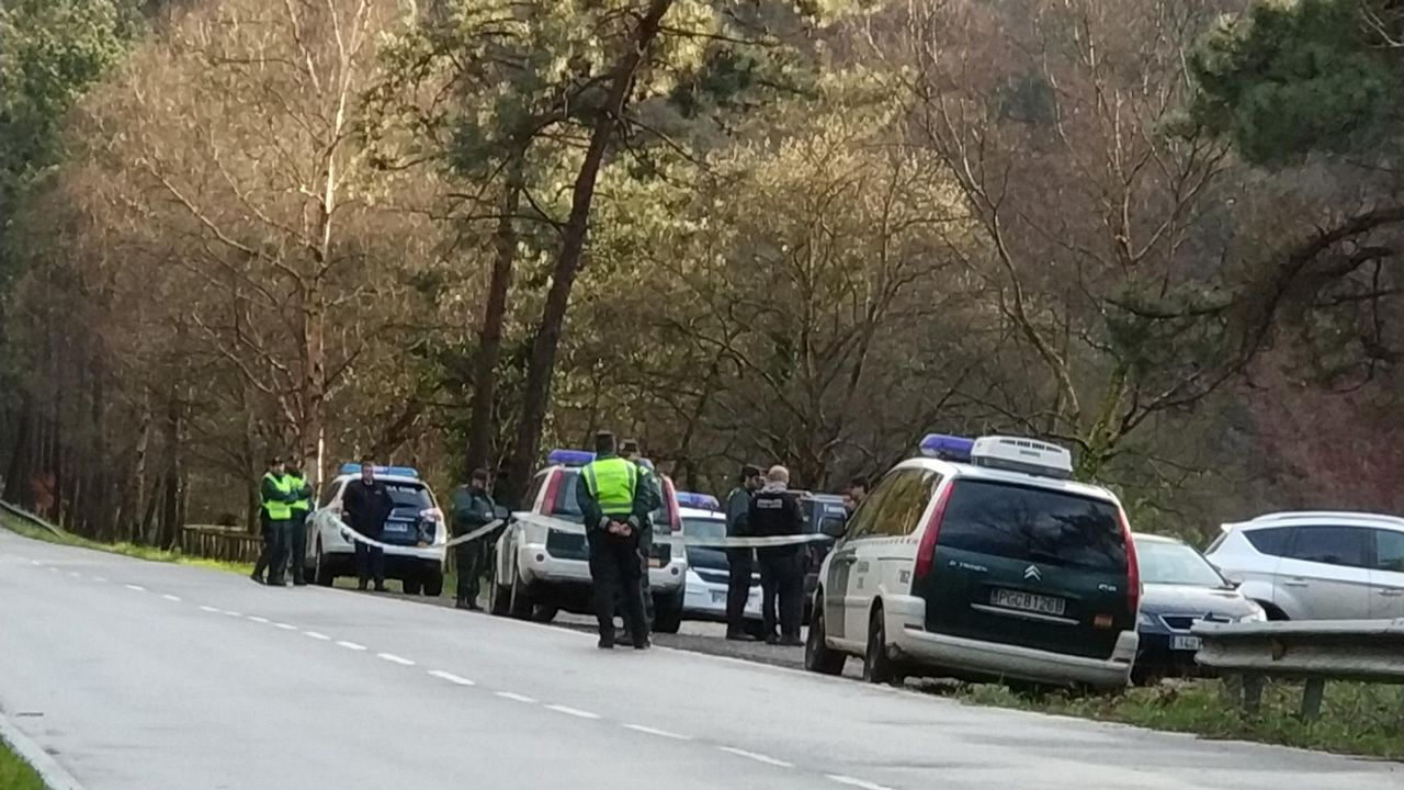 La Guardia Civil, en el punto en el apareció el cadáver en el embalse de Arbón.Verónica Fernández, prima de la fallecida, en una entrevista para el Programa de Ana Rosa