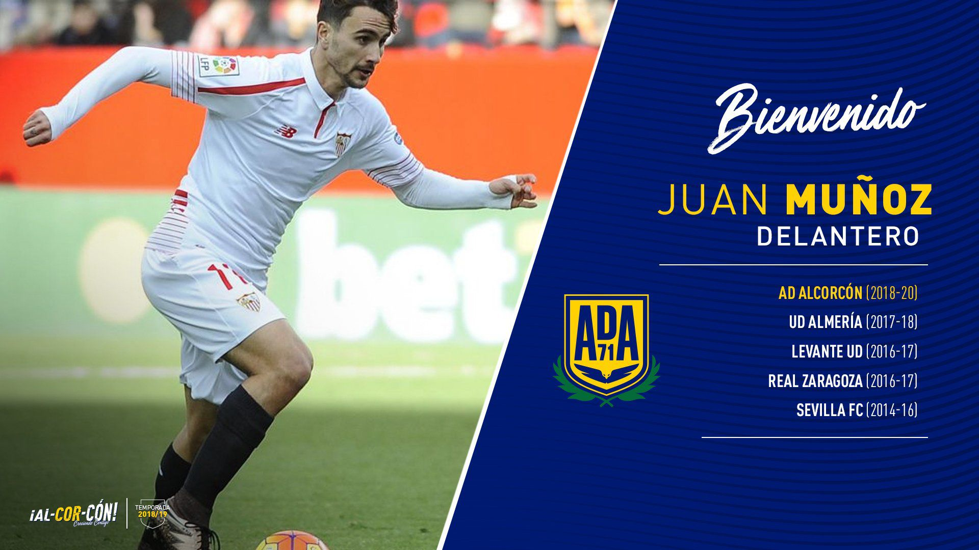 Juan Muñoz, nuevo jugador del Alcorcón