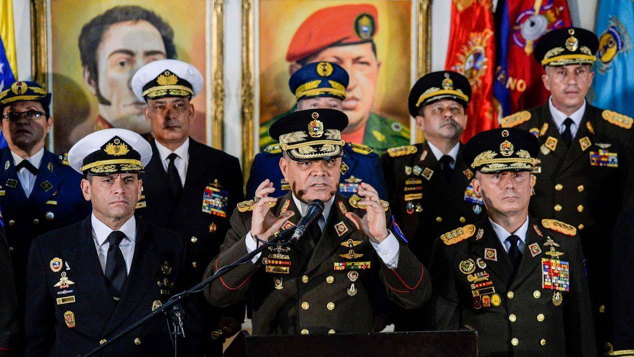 Concentracion de venezolanos en Madrid en defensa del Guaidó y contra Nicolás Maduro