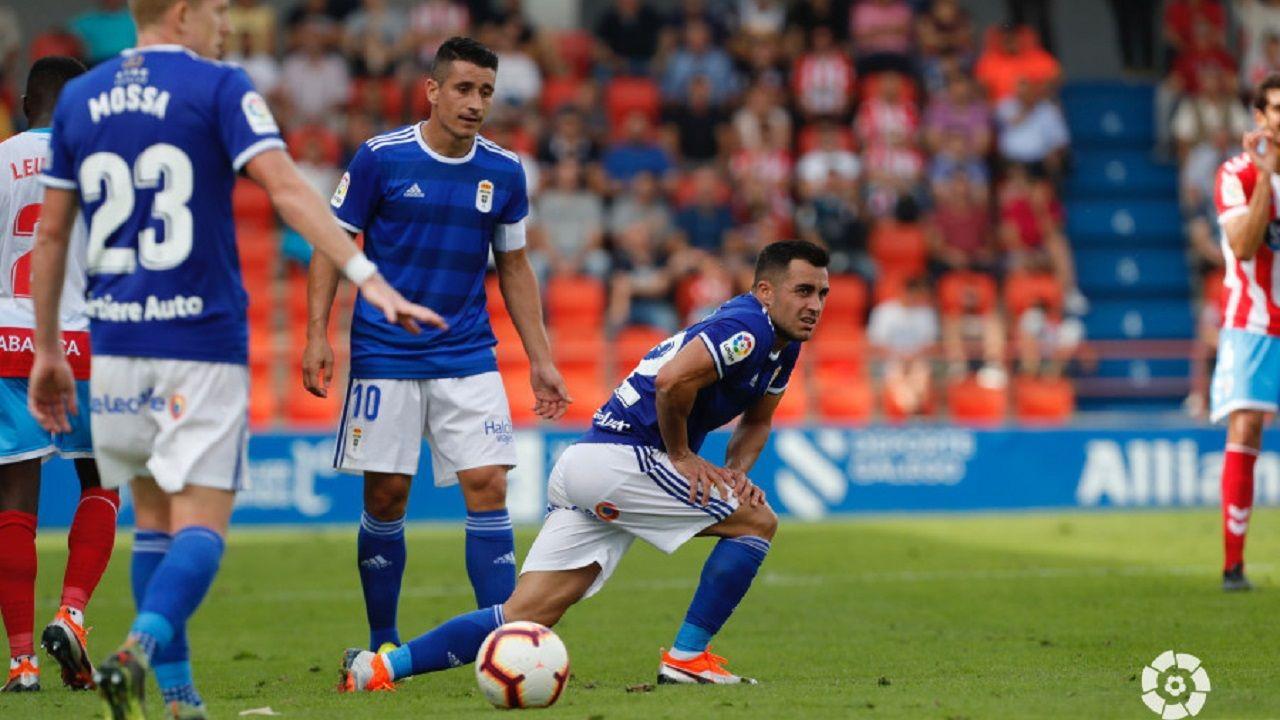 Joselu, Saúl y Mossa en el Lugo-Real Oviedo