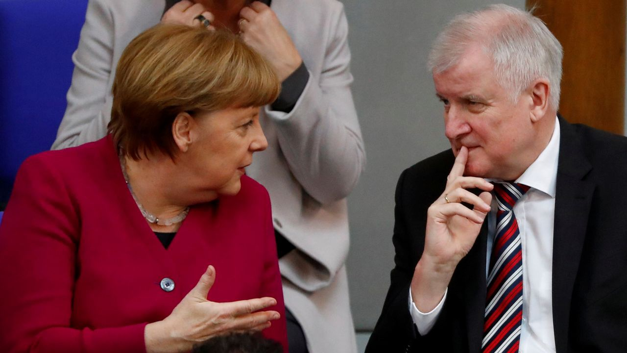 .Merkel y Seehofer