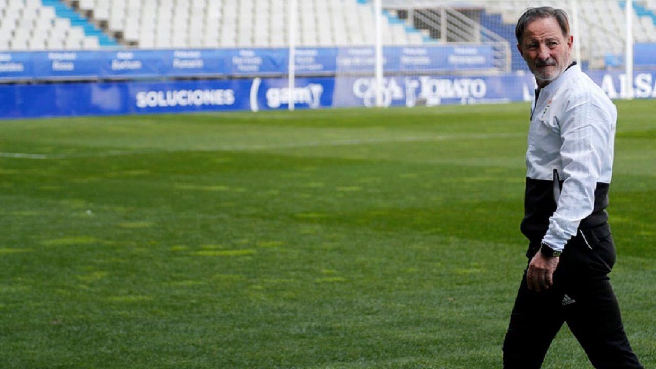 Javi Rozada Bilbao Athletic Vetusta Lezama.Juan Antonio Anquela en el Carlos Tartiere