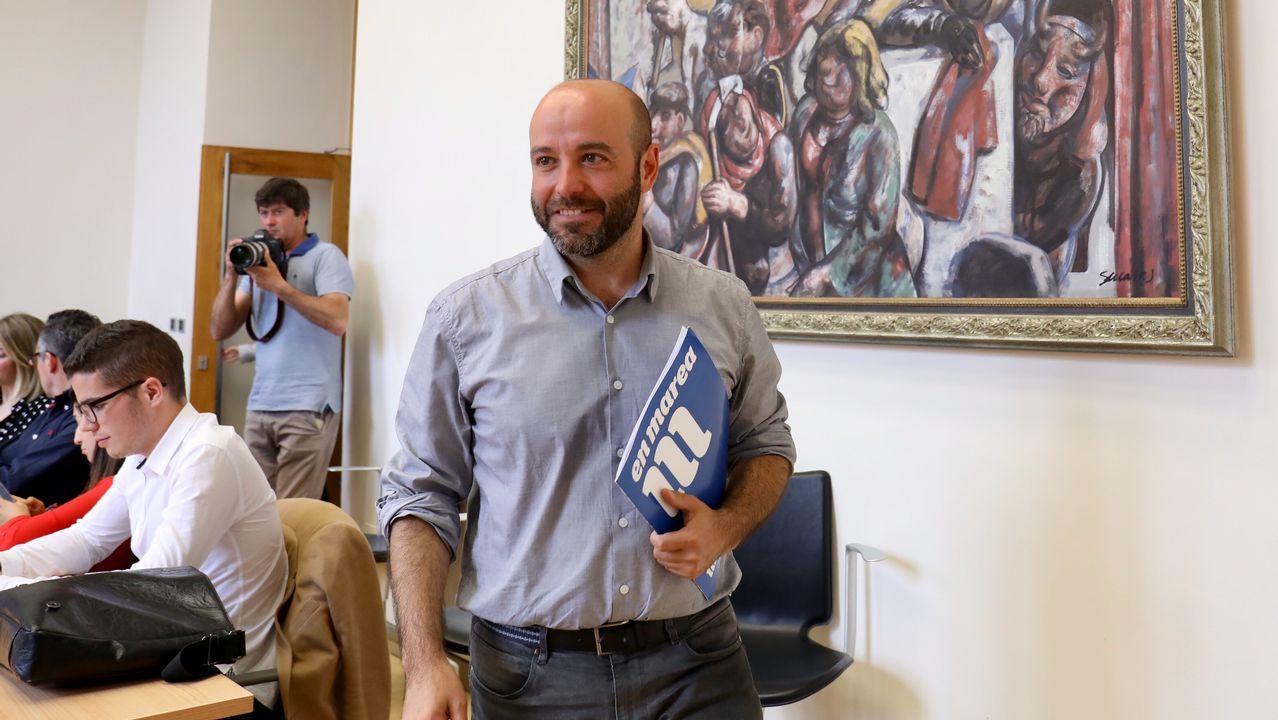Luís Villares sobre la consulta de Quinteiro: «As bases nunca se equivocan».Pablo Iglesias, durante una de sus intervenciones durante la moción de censura