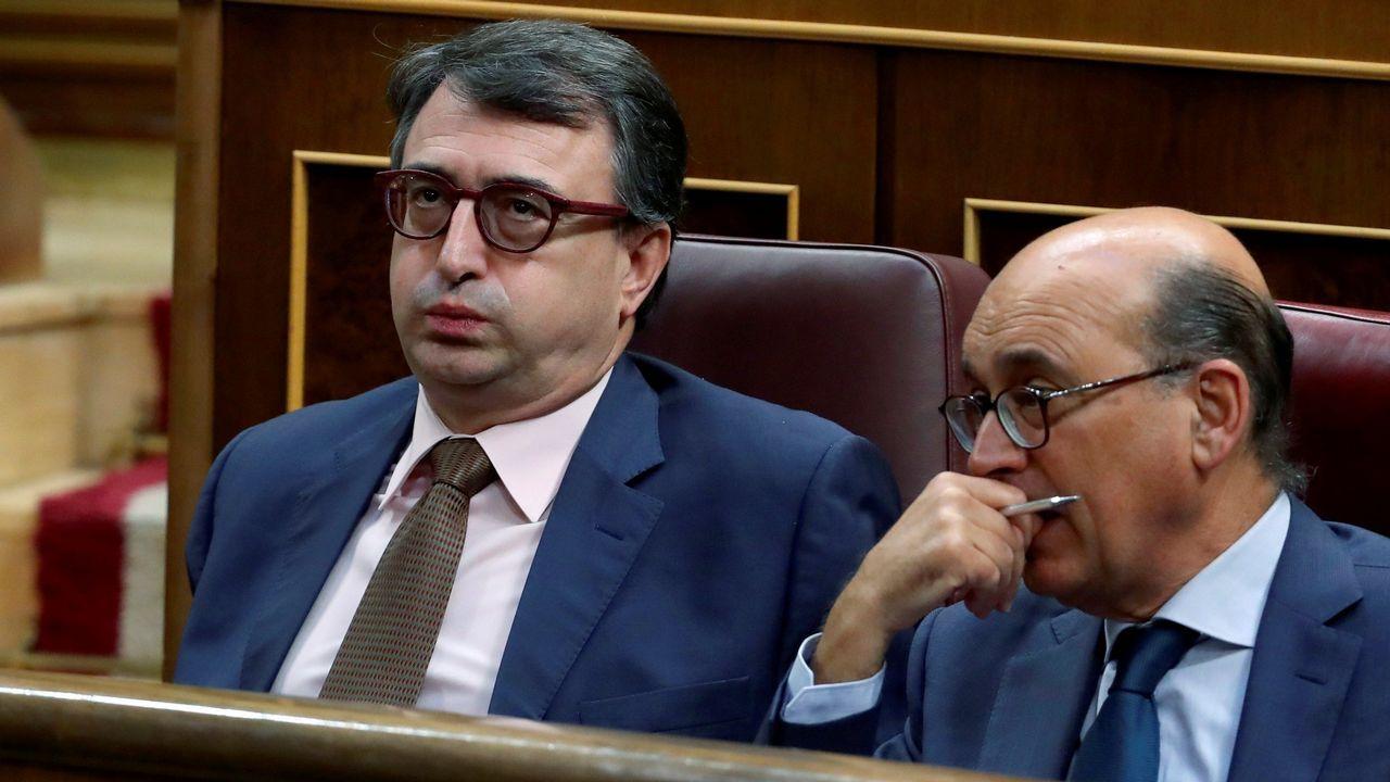 Isidro Martínez Oblanca.Aitor Esteban, portavoz del PNV en el Congreso, durante la sesión de debate