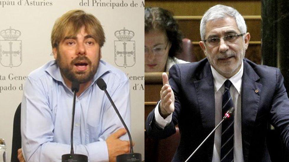 .Daniel Ripa y Gaspar Llamazares.