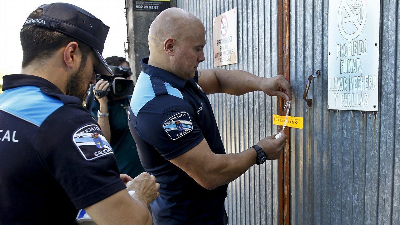 Los 2.800 kilos de la pirotecnia de Tui podrían sacarse la próxima semana.Carlos Torres, presidente del BBVA desde enero, y Onur Genç, que lo sustituirá como consejero delegado del grupo