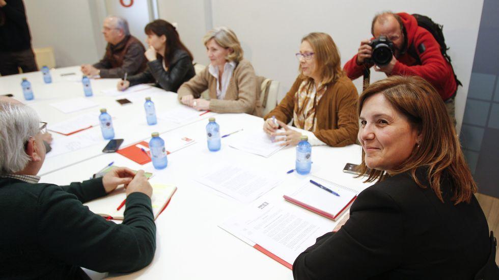 Un enfrentamiento que viene de lejos.Pilar Cancela preside la reunión de la gestora del PSdeG-PSOE