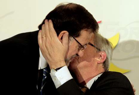 .Rajoy presentó en Madrid al candidato popular a presidir la Comisión, Jean-Claude Juncker.