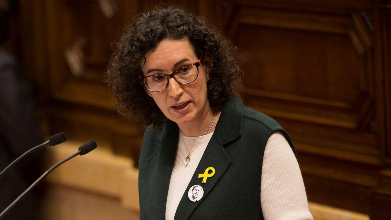 En directo, pleno de investidurade Jordi Turull.Puigdemont se reunió ayer con diputados de su partido