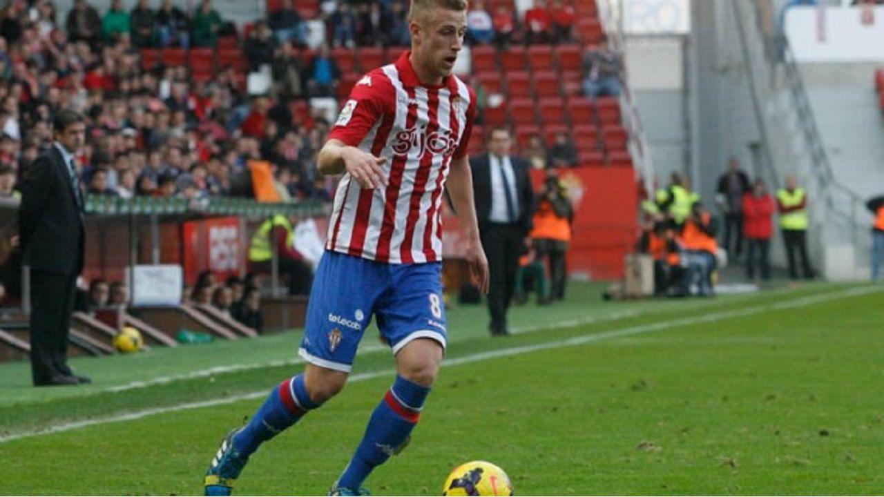 Álex Barrera, en su etapa en el Sporting